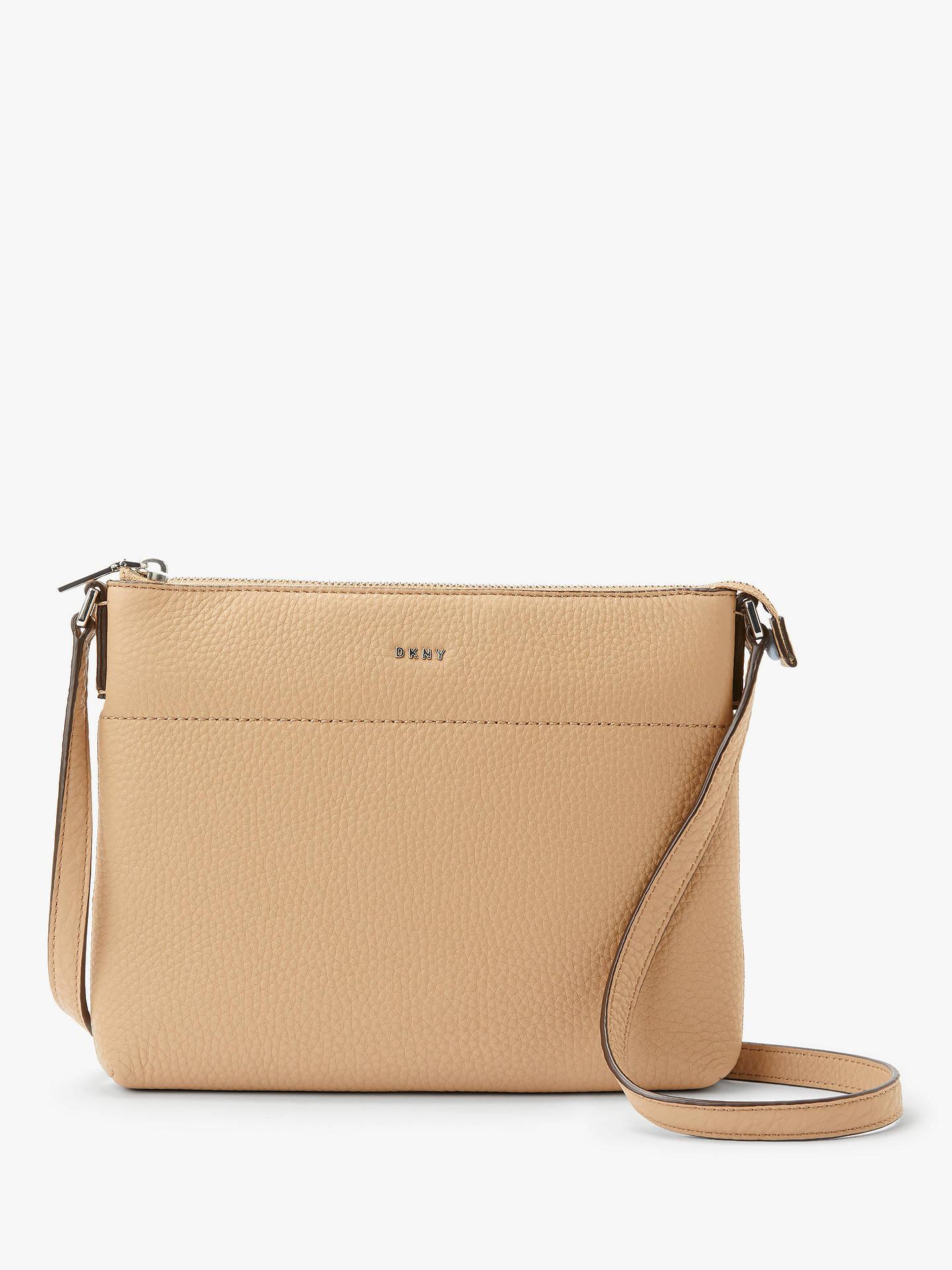 41c121ecc1 Buy DKNY Bellah Leather Cross Body Bag, Camel Online at johnlewis.com ...