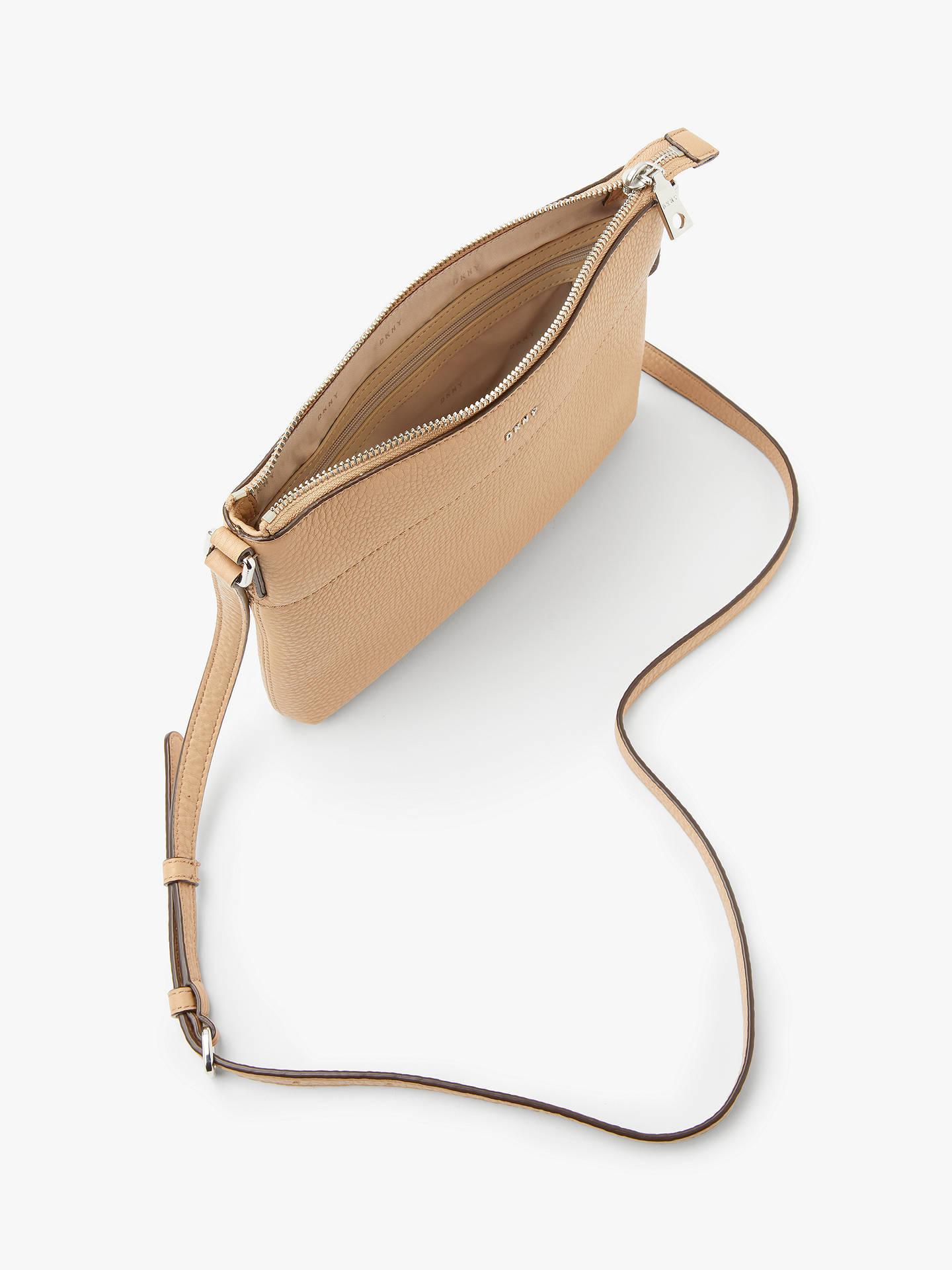 47e3088113e5 DKNY Bellah Leather Cross Body Bag, Camel