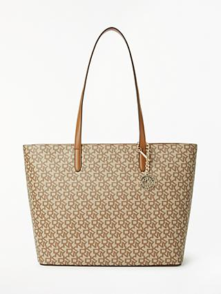 Dkny Bryant Large Leather Logo Tote Bag