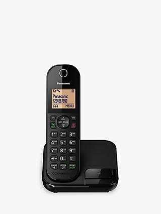 Panasonic KX-TGC410EB Digital Cordless Telephone with Nuisance Call Blocker, Single DECT