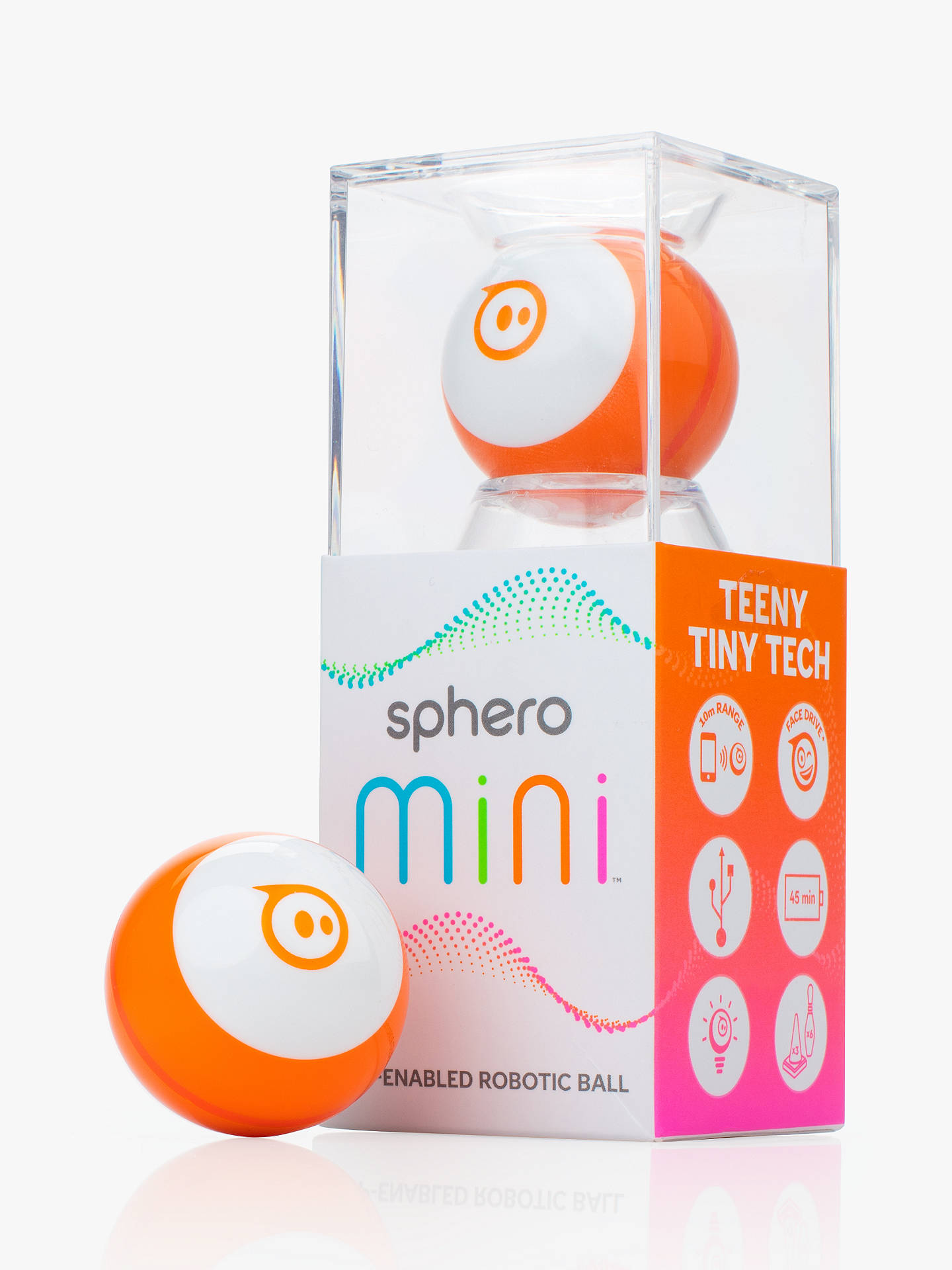 Buy Sphero Mini, App-Enabled Robot Ball, Orange Online at johnlewis.com