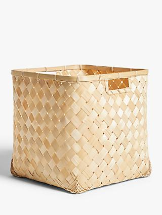 John Lewis & Partners Strip Bamboo Planter
