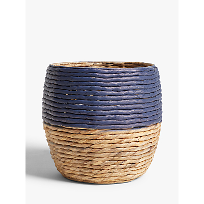 John Lewis & Partners Navy Band Water Hyacinth Planter