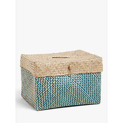 John Lewis & Partners Fusion Patterned Seagrass Basket