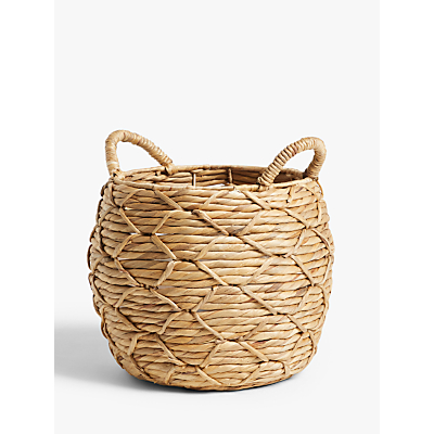 John Lewis & Partners Patterned Weave Water Hyacinth Planter