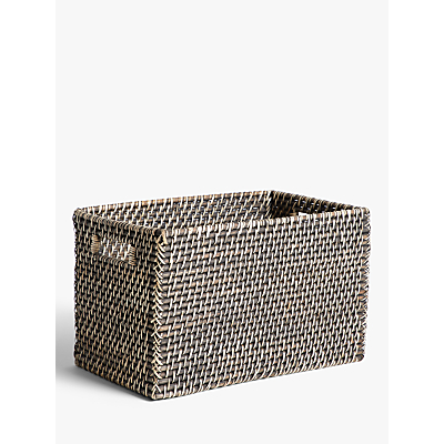 John Lewis & Partners Fusion Dark Water Hyacinth Basket