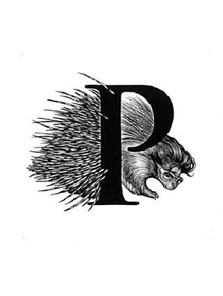 Rory Dobner Porcupine Decorative Tile, 14.8 x 14.8cm