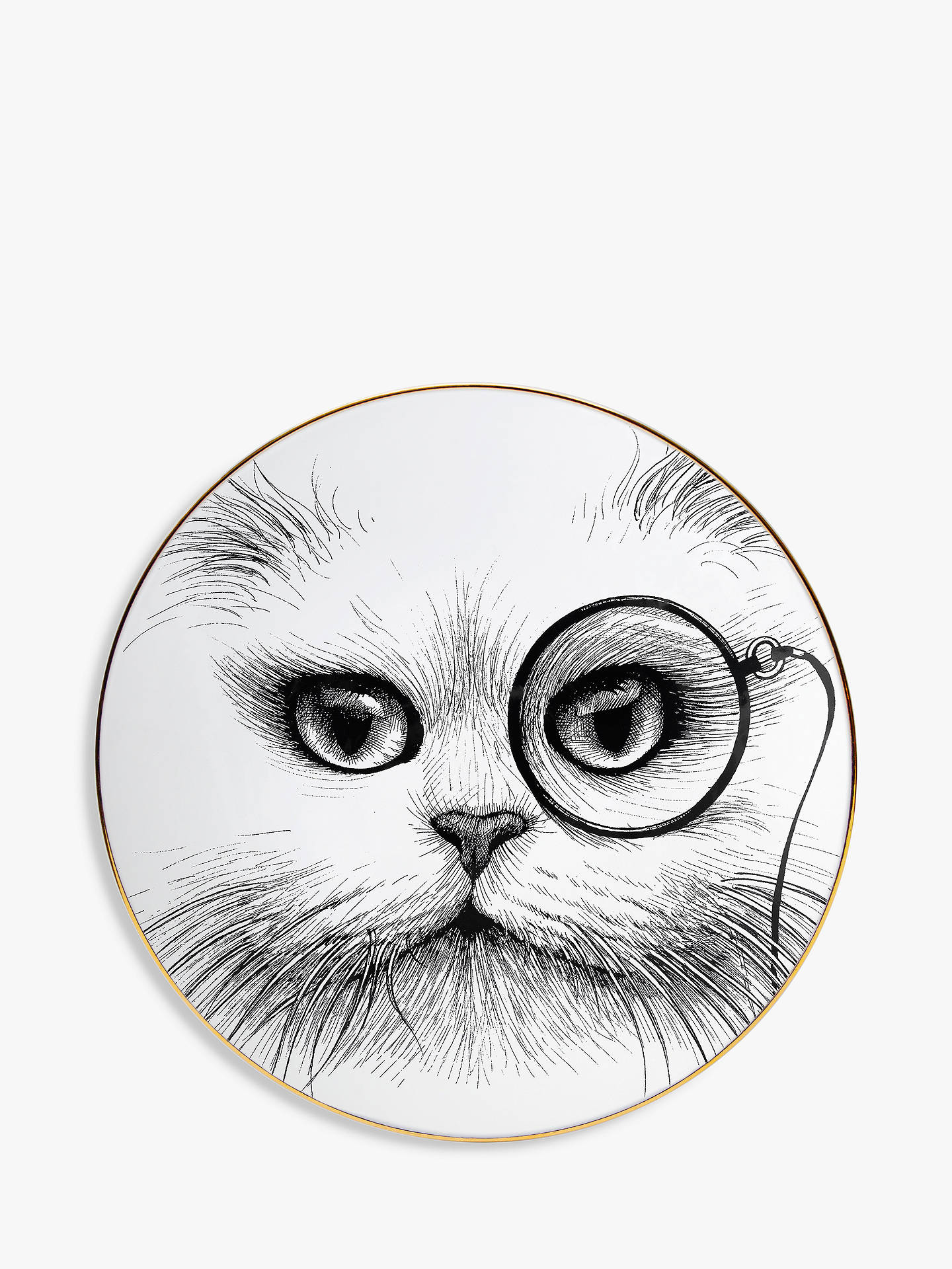 Buy Rory Dobner Cat Monocle Plate, Dia.16cm, without Gift Box Online at johnlewis.com