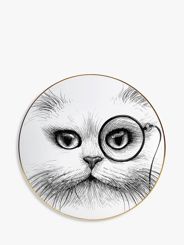 Buy Rory Dobner Cat Monocle Plate, Dia.16cm Online at johnlewis.com