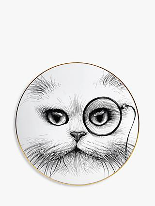 Rory Dobner Cat Monocle Plate, Dia.16cm