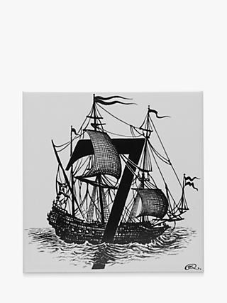 Rory Dobner Sail The Seven Seas Decorative Tile, 14.8 x 14.8cm