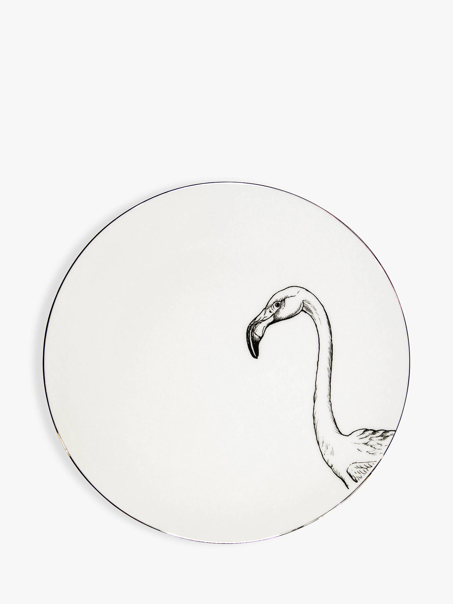 BuyRory Dobner Francis Flamingo Plate, Dia.21cm, with Gift Box Online at johnlewis.com