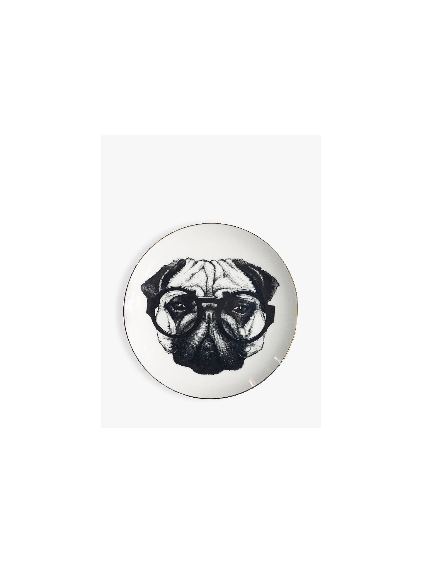 BuyRory Dobner Percy Pug Plate, Dia.16cm, with Gift Box Online at johnlewis.com