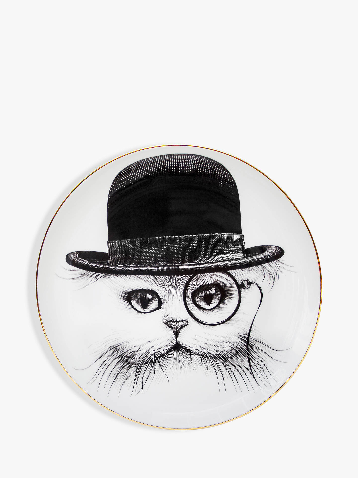 BuyRory Dobner Cat in Hat Plate, Dia.16cm Online at johnlewis.com