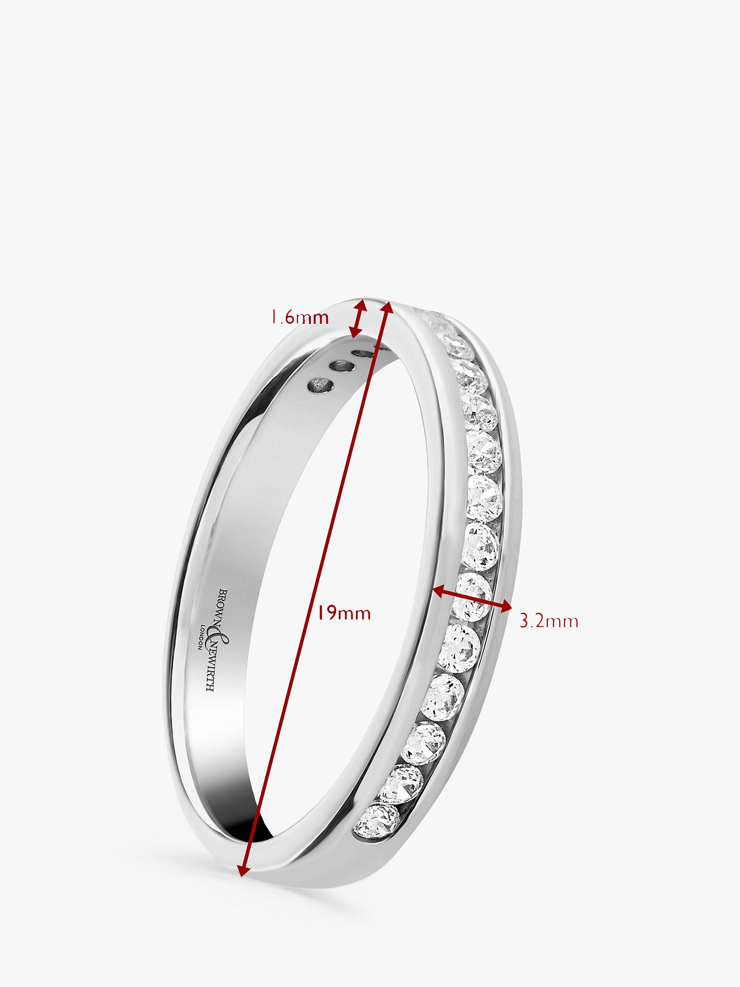 Buy Brown & Newirth Platinum Diamond Half Eternity Ring, 0.30ct Online at johnlewis.com