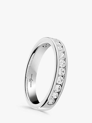 Brown & Newirth 18ct White Gold Diamond Half Eternity Ring, 0.50ct