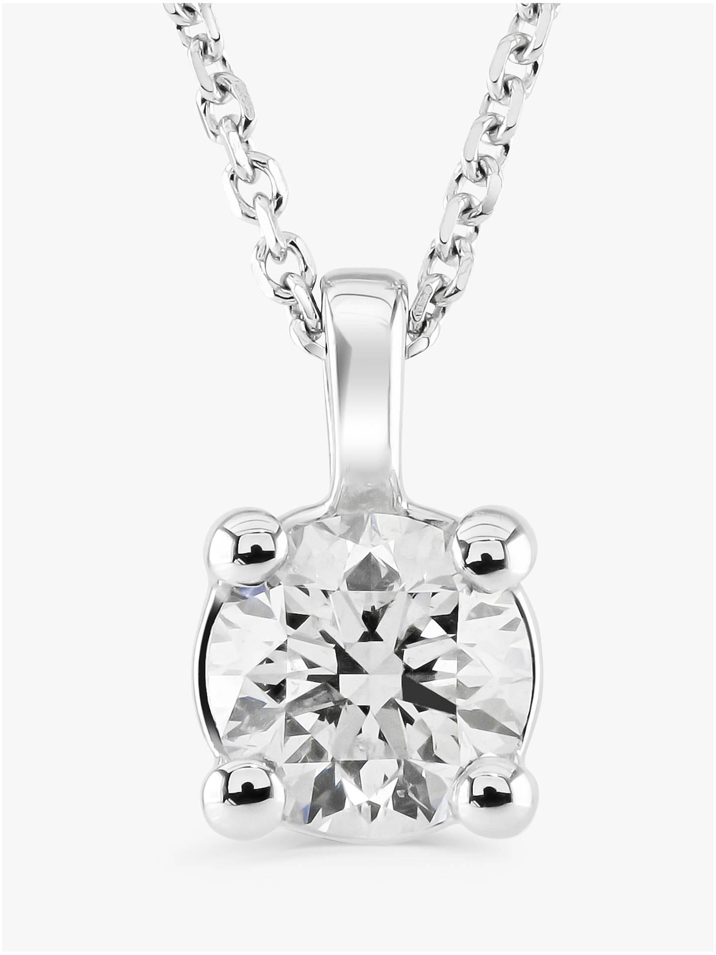 5ecb0334aa9f6 Buy Brown   Newirth 18ct White Gold Diamond Round Pendant Necklace