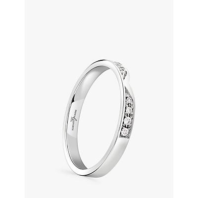 Image of Brown & Newirth Platinum Diamond Wedding Ring, 0.07ct