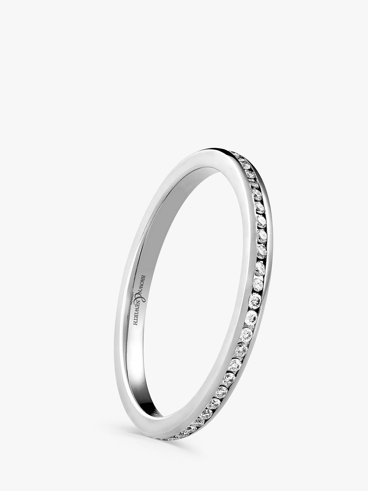 BuyBrown & Newirth 18ct White Gold Diamond Eternity Ring, 0.28ct Online at johnlewis.com