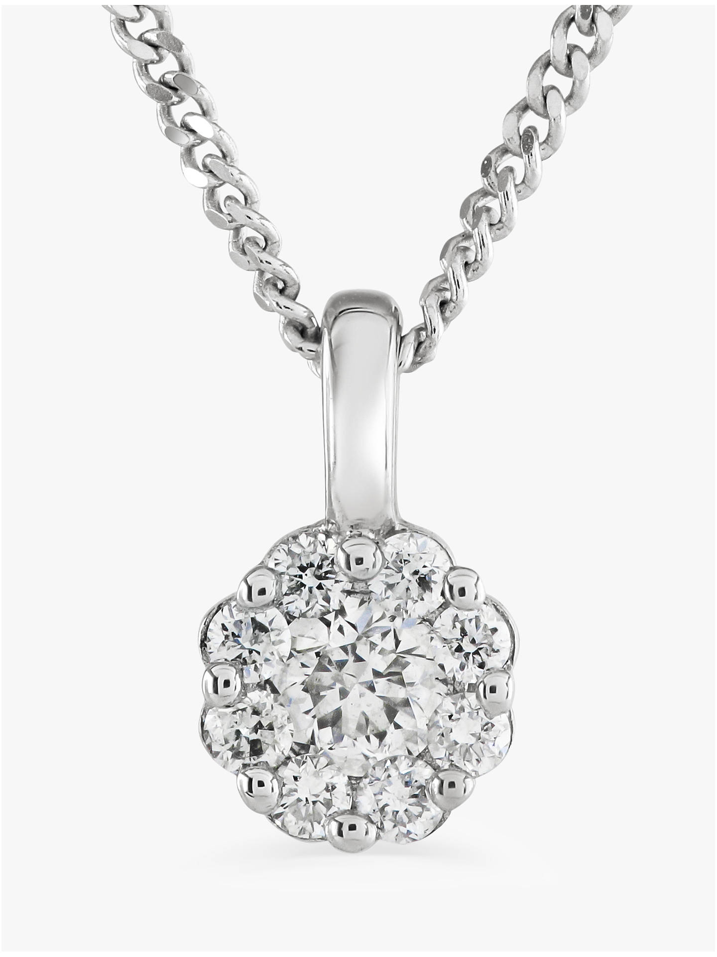 BuyBrown & Newirth 9ct White Gold Diamond Pendant Necklace, 0.15ct Online at johnlewis.com