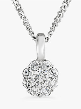 Buy Brown & Newirth 9ct White Gold Diamond Pendant Necklace, 0.15ct Online at johnlewis.com