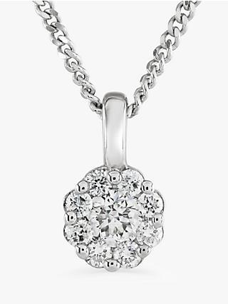df3d7804d Brown & Newirth 9ct White Gold Diamond Pendant Necklace, ...