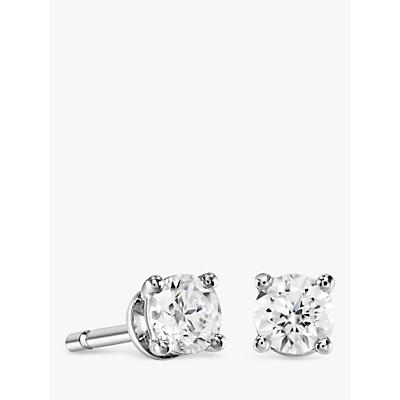 280f1b0f9c8a1 Brown   Newirth 18ct White Gold Diamond Round Stud Earrings