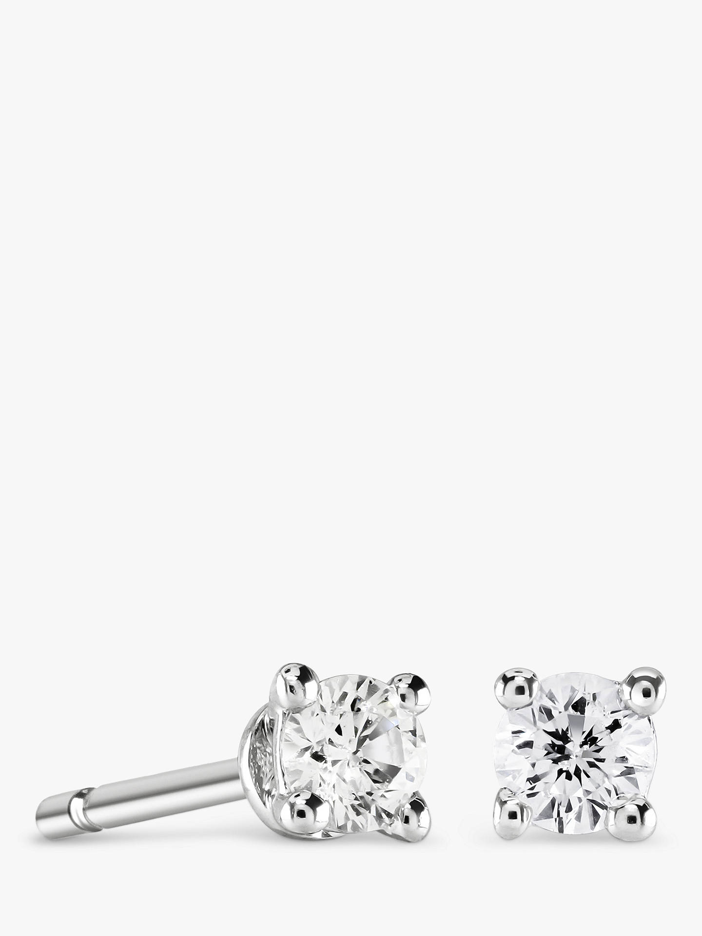 5791356a1 Buy Brown & Newirth 9ct White Gold Diamond Round Stud Earrings, 0.15ct  Online at ...