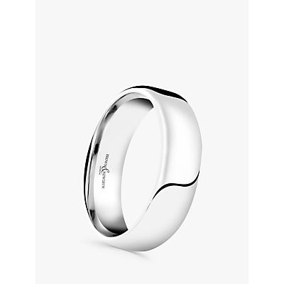 Image of Brown & Newirth Men's Platinum 6mm Softened Court Shape Wedding Ring, U