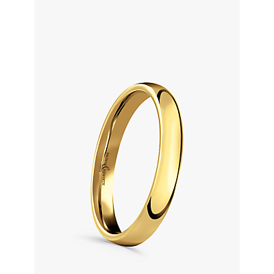 Image of Brown & Newirth 18ct Yellow Gold 3mm Court Shape Wedding Ring