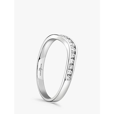 Image of Brown & Newirth Platinum Diamond Wedding Ring, 0.26ct