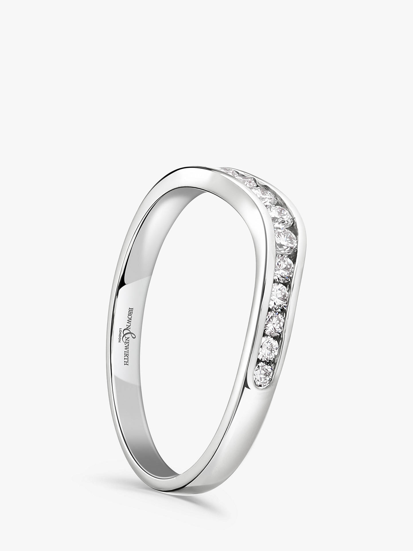 BuyBrown & Newirth Platinum Diamond Wedding Ring, 0.26ct Online at johnlewis.com