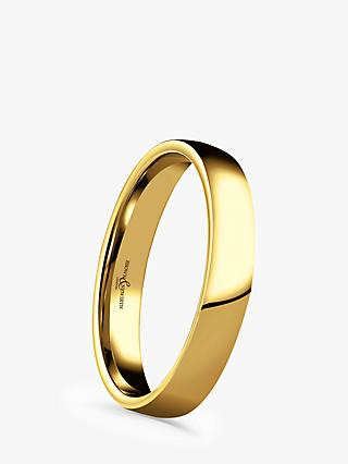 Brown & Newirth 18ct Yellow Gold 3mm Domed Court Shape Wedding Ring