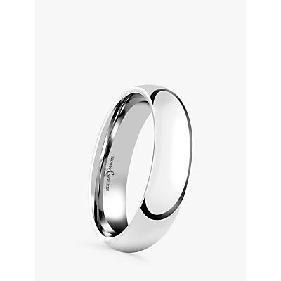 Image of Brown & Newirth Men's Platinum 5mm Court Shape Wedding Ring