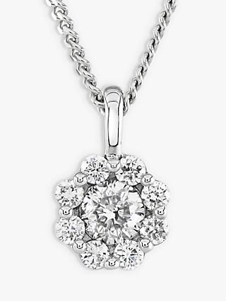 Brown & Newirth 9ct White Gold Diamond Pendant Necklace, 0.20ct