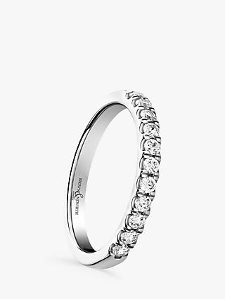 Brown & Newirth 18ct White Gold Diamond Half Eternity Ring, 0.30ct