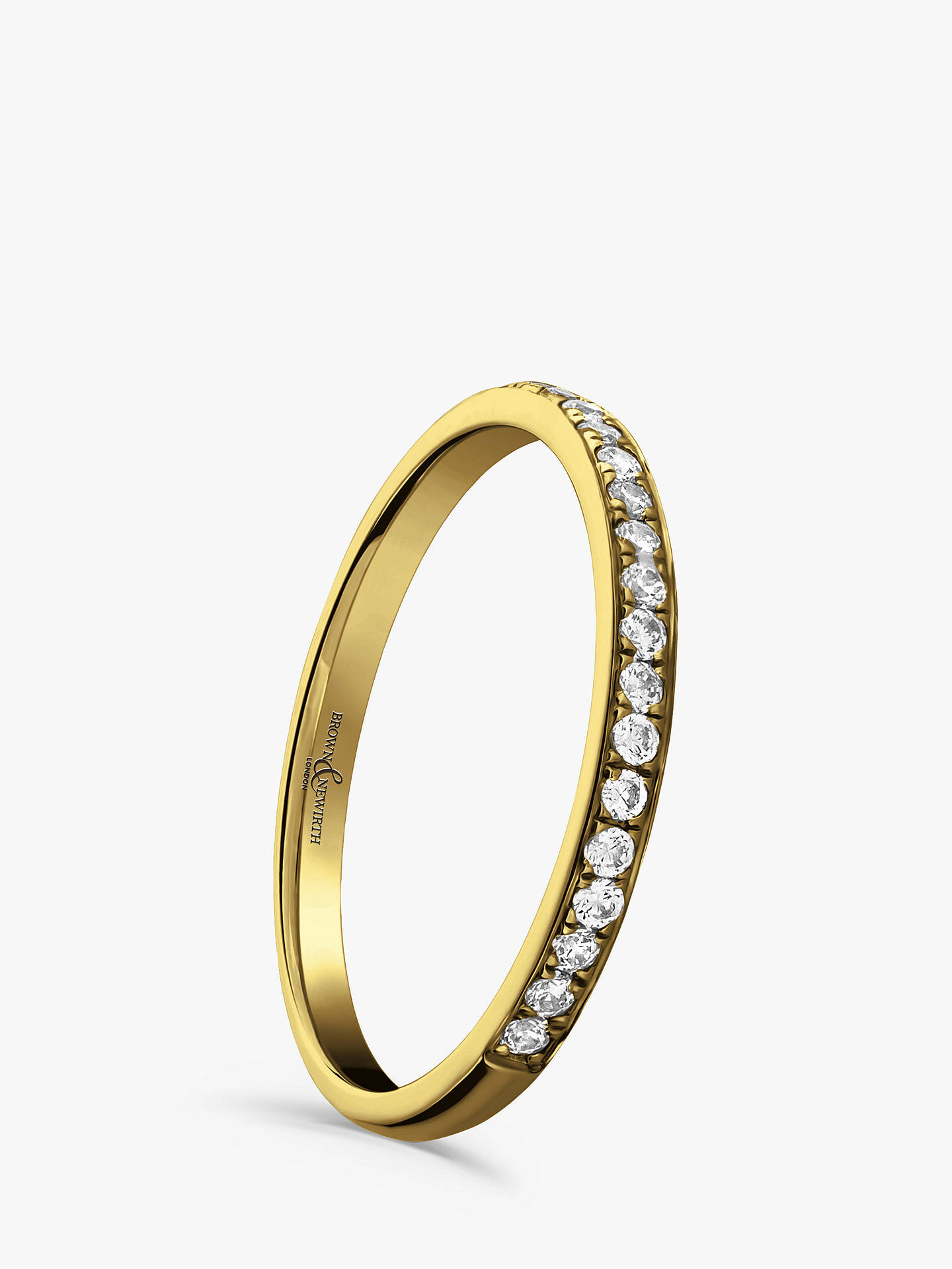 Buy Brown & Newirth 18ct Yellow Gold Diamond Half Eternity Ring, 0.15ct Online at johnlewis.com