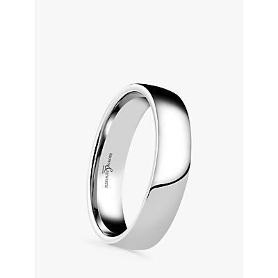 Image of Brown & Newirth Men's Palladium 5mm Domed Court Shape Wedding Ring