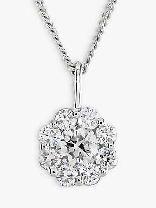 Brown & Newirth 18ct White Gold Diamond Pendant Necklace, 0.40ct
