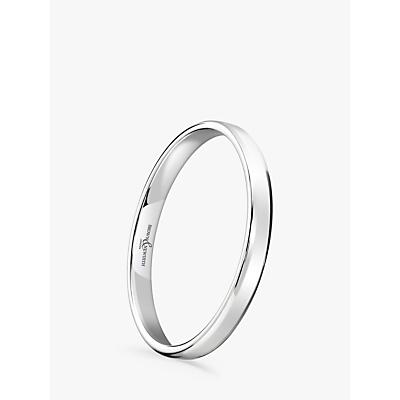 Image of Brown & Newirth Women's Platinum 2mm Softened Court Shape Wedding Ring, L