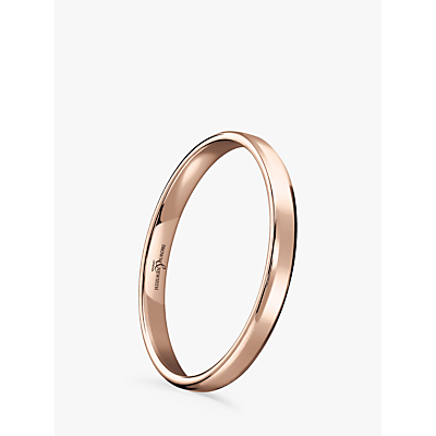 Image of Brown & Newirth Women's 18ct Rose Gold 2mm Softened Court Shape Wedding Ring, N