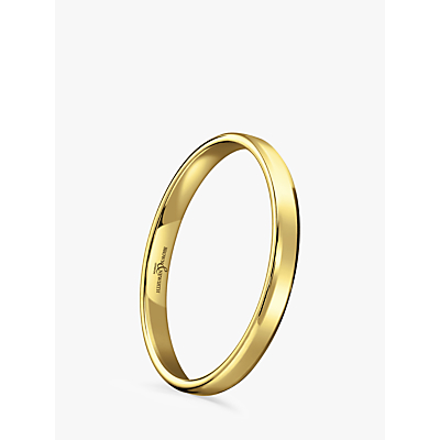Image of Brown & Newirth Women's 9ct Gold 2mm Softened Court Shape Wedding Ring, L