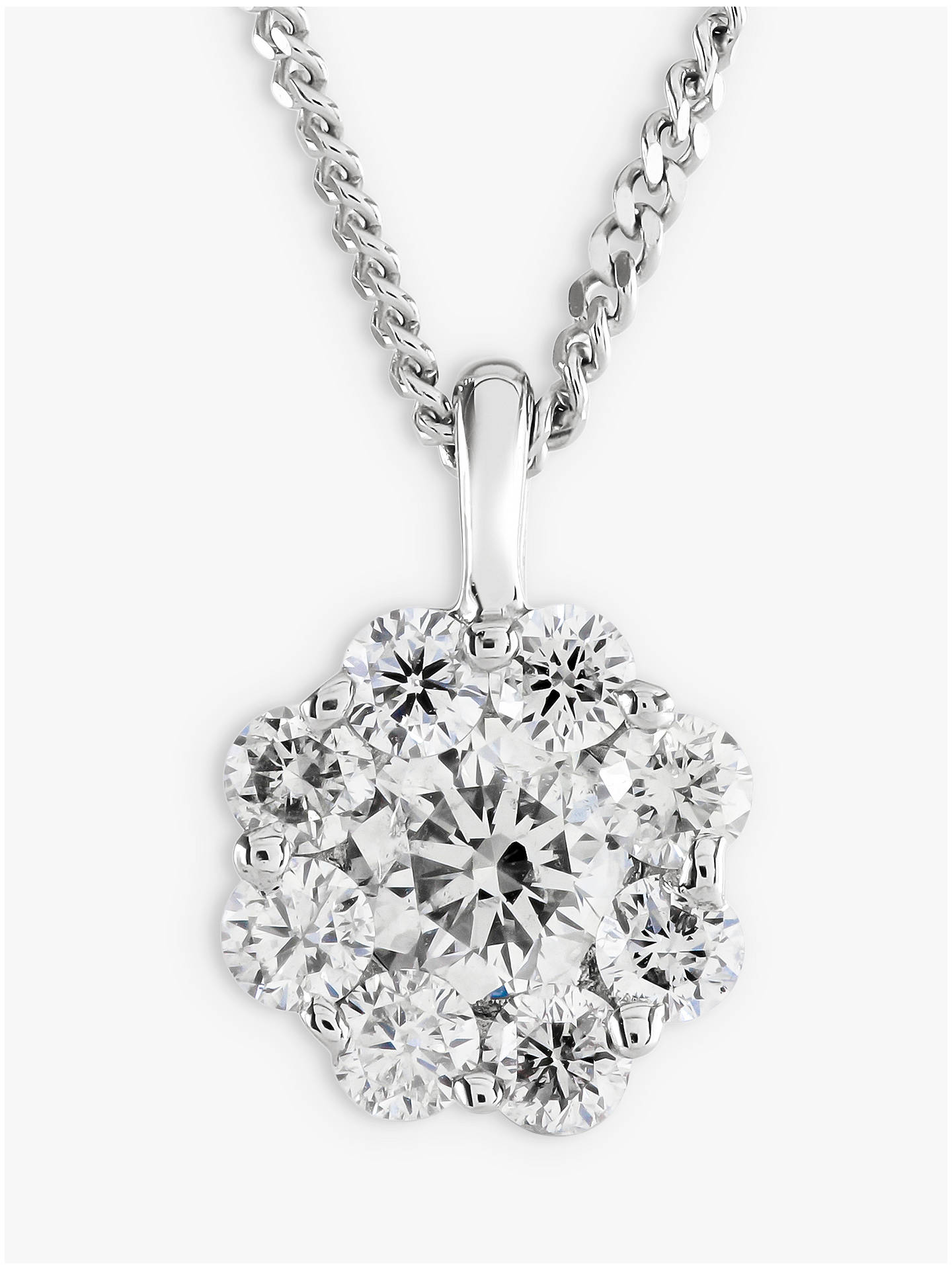 Brown & Newirth 18ct White Gold Diamond Pendant Necklace, 0 50ct
