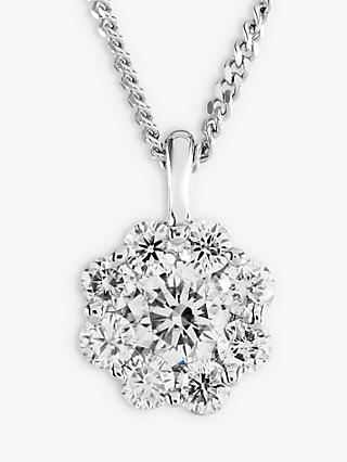 Brown & Newirth 18ct White Gold Diamond Pendant Necklace, 0.50ct