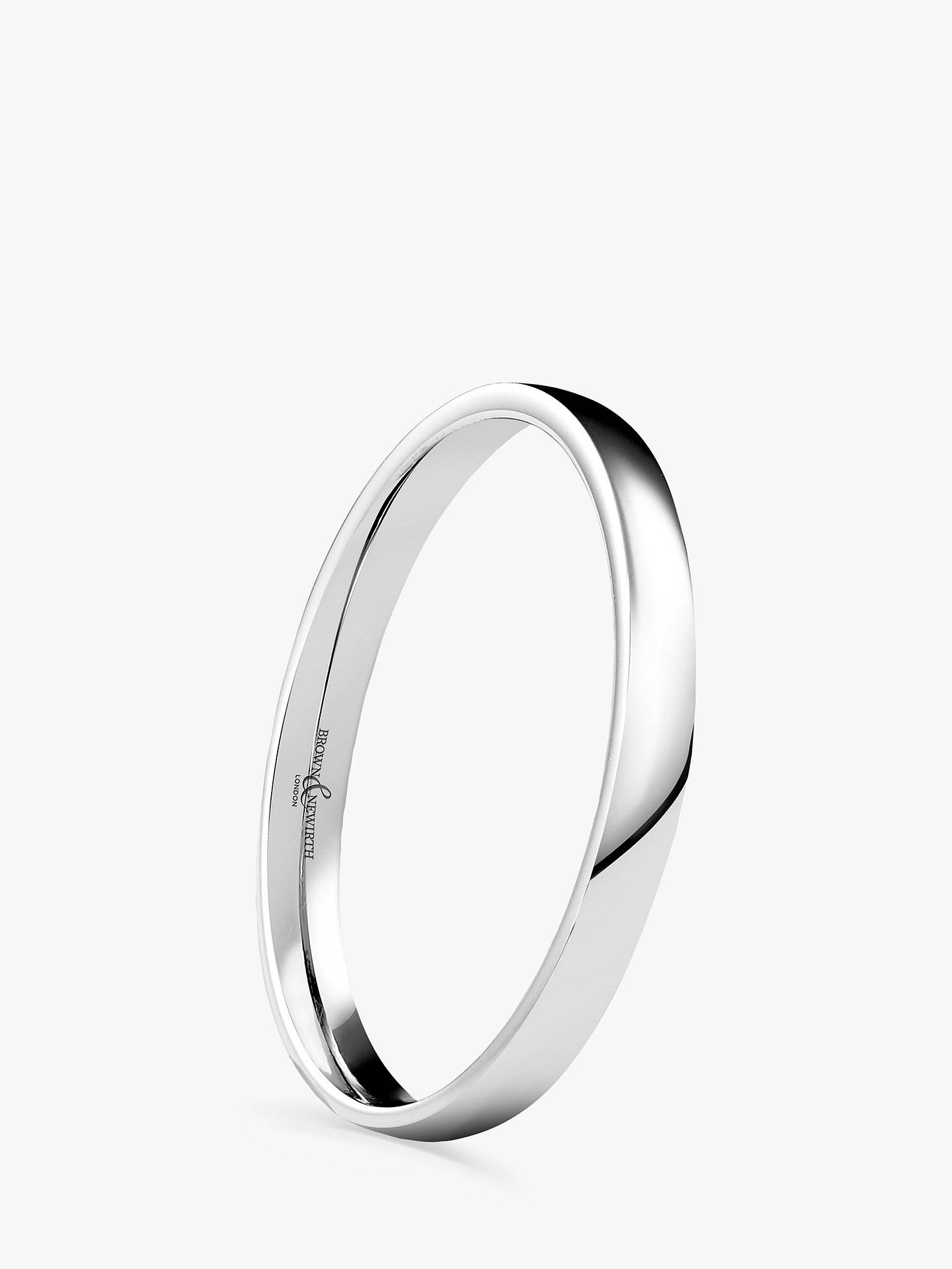 Buy Brown & Newirth Women's 18ct White Gold 2mm Low Dome Court Shape Wedding Ring Online at johnlewis.com