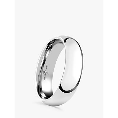 Image of Brown & Newirth Men's Platinum 6mm Court Shape Wedding Ring