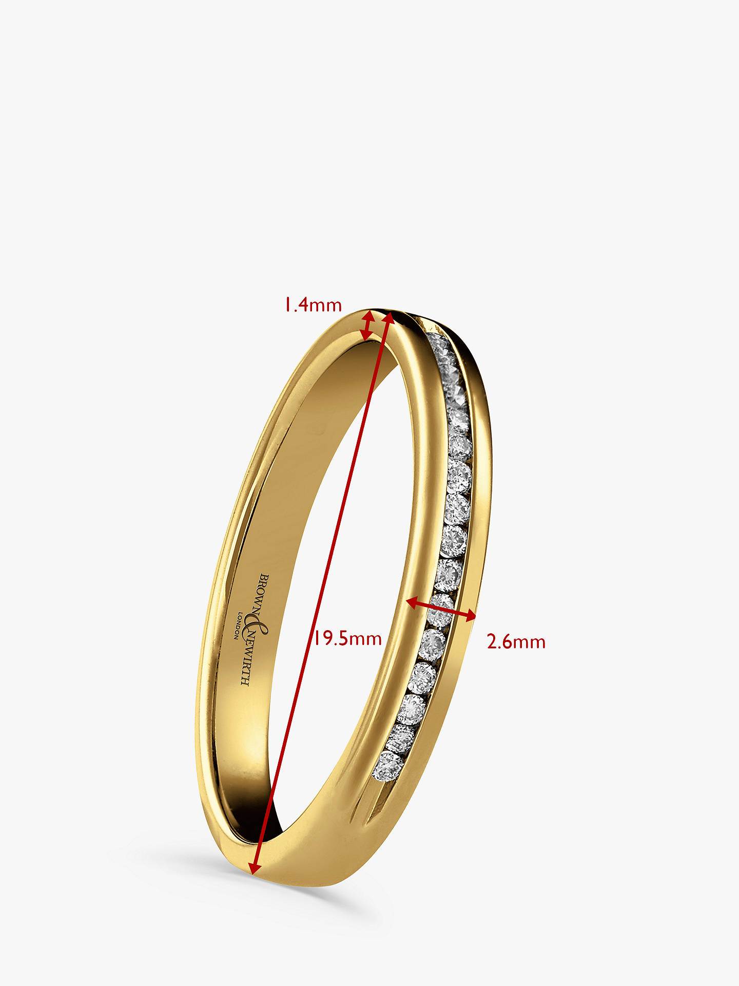Buy Brown & Newirth 18ct Yellow Gold Diamond Half Eternity Ring, 0.07ct Online at johnlewis.com
