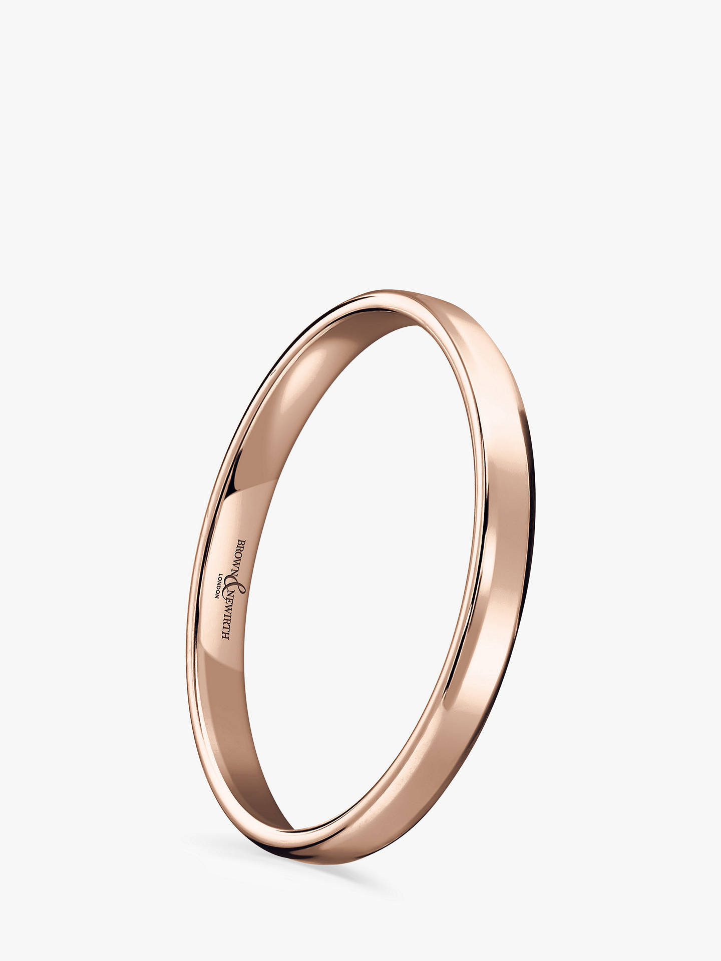 Buy Brown & Newirth Women's 9ct Rose Gold 2mm Softened Court Shape Wedding Ring, N Online at johnlewis.com