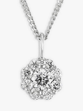 Buy Brown & Newirth 9ct White Gold Diamond Pendant Necklace, 0.30ct Online at johnlewis.com