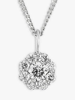 Brown & Newirth 9ct White Gold Diamond Pendant Necklace, 0.30ct
